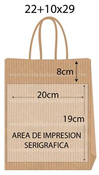 bolsas de papel 22+10x29