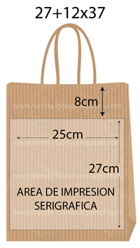 bolsas de papel 27+12x37