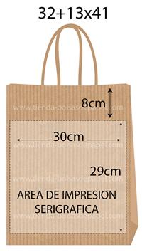 bolsas de papel 32+13x41