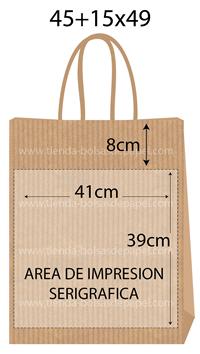 bolsas de papel 45+15x49